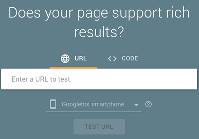 Googles rich snippet test
