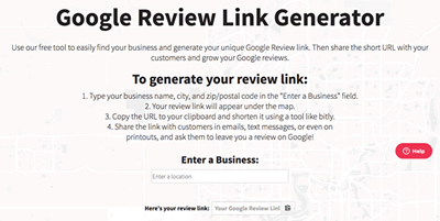 Google business link generator