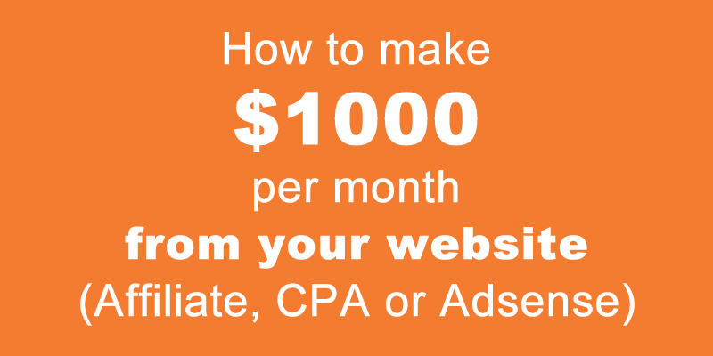 how many page views to make $1000 per month